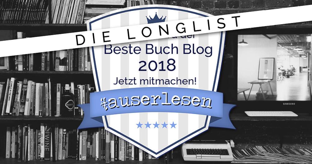Die Longlist | Buchblog Award #auserlesen 2018